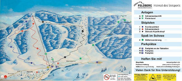 Altglashütten Ski Resort Piste Map