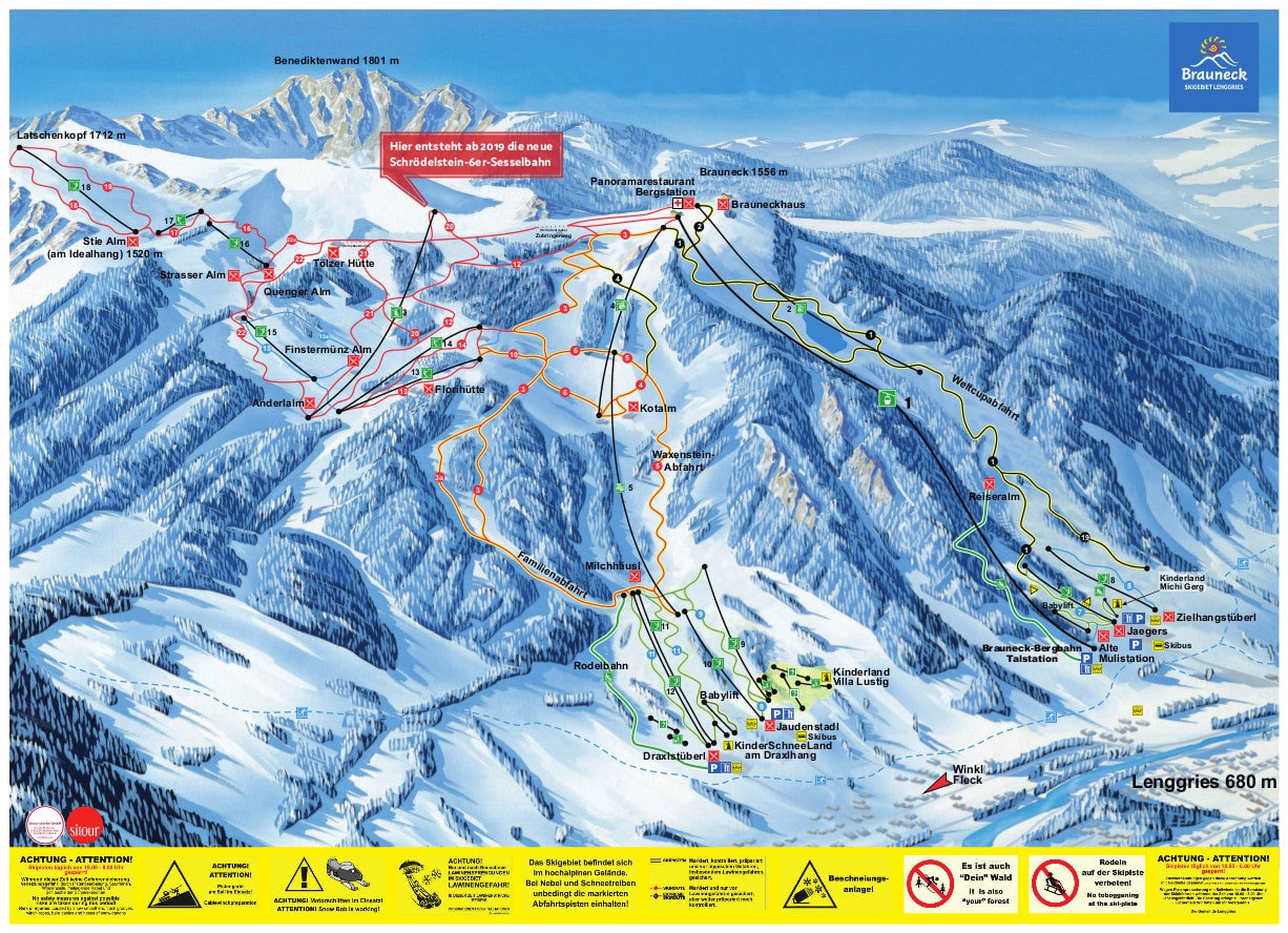 Lenggries Ski Resort Piste Map