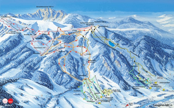 Brauneck Ski Resort Piste Map