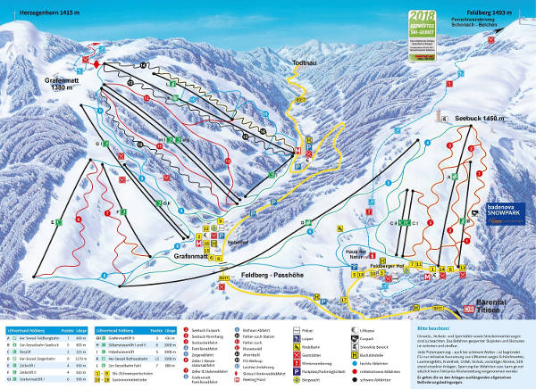Feldberg Ski Resort Piste Map