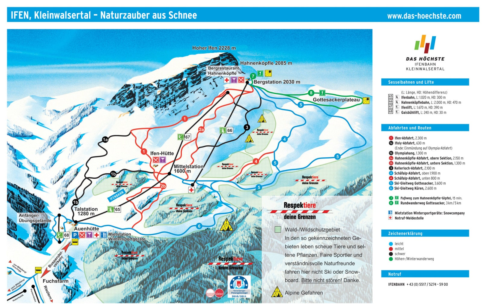 Ifen Germany Piste Maps