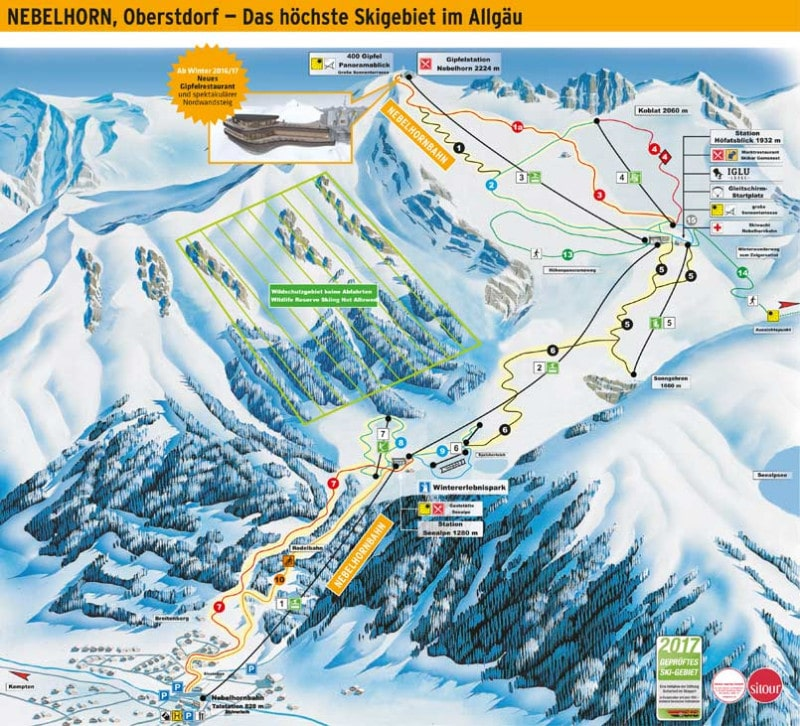 Nebelhorn Ski Resort Piste Map