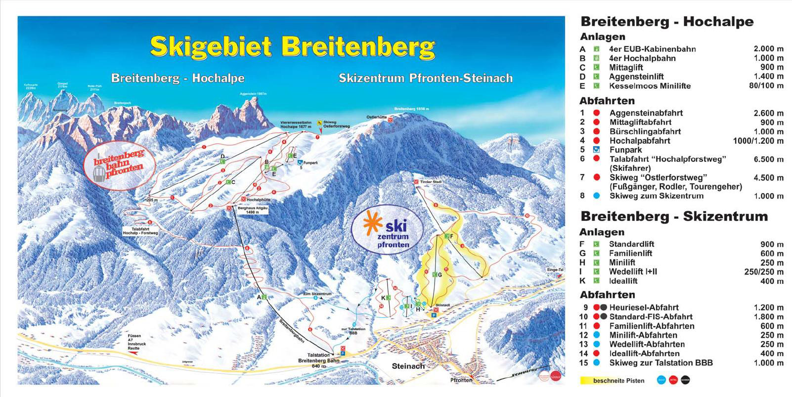 Pfronten Germany Piste Map Free downloadable piste maps