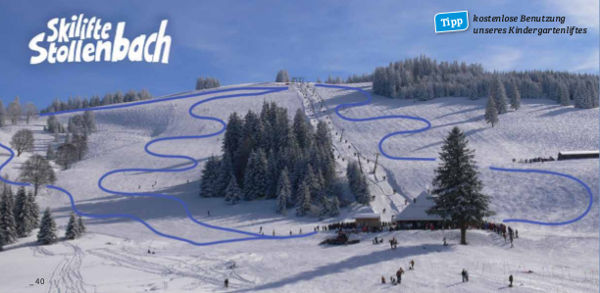 Stollenbach Ski Resort Piste Map