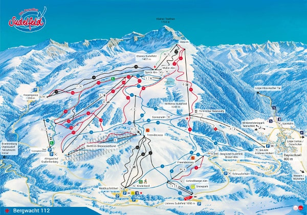 Sudelfeld Ski Resort Piste Map