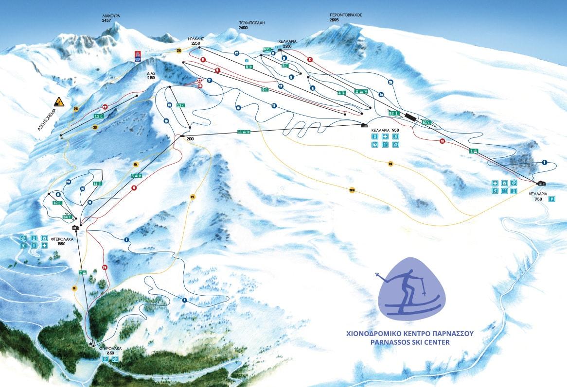 Parnassos Piste Map Parnassos Ski Resort Greece