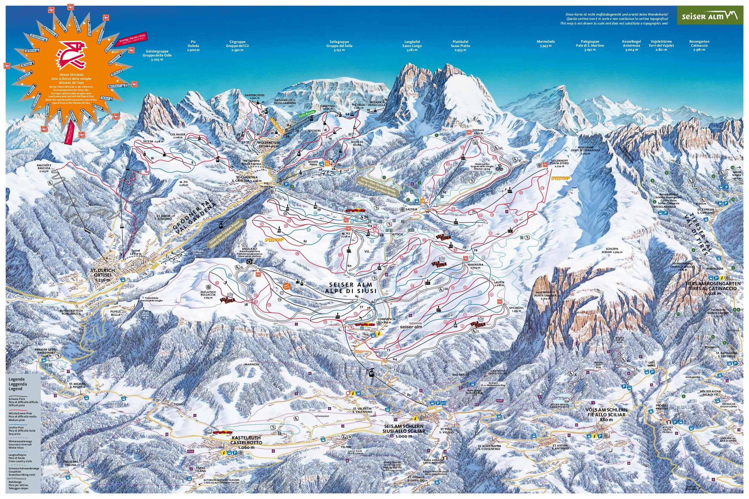 Alpe Di Siusi Piste Map
