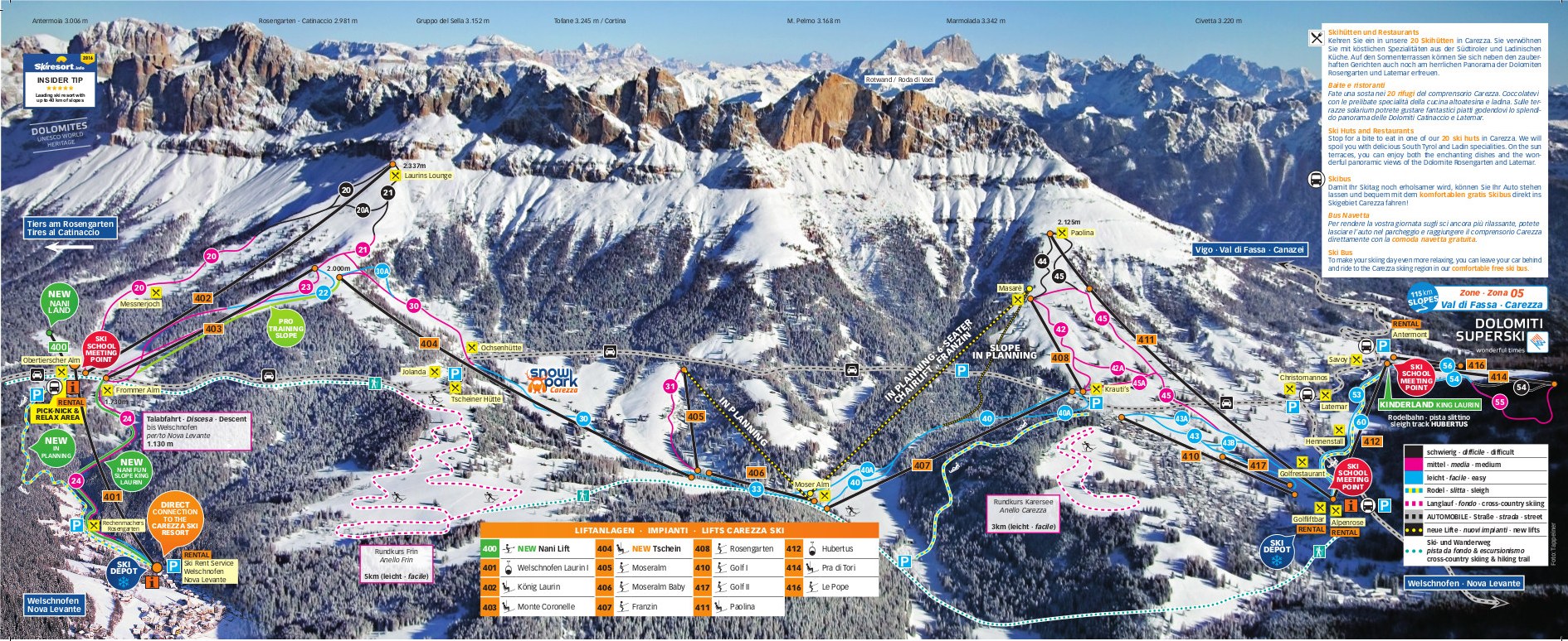 Carezza Piste Map