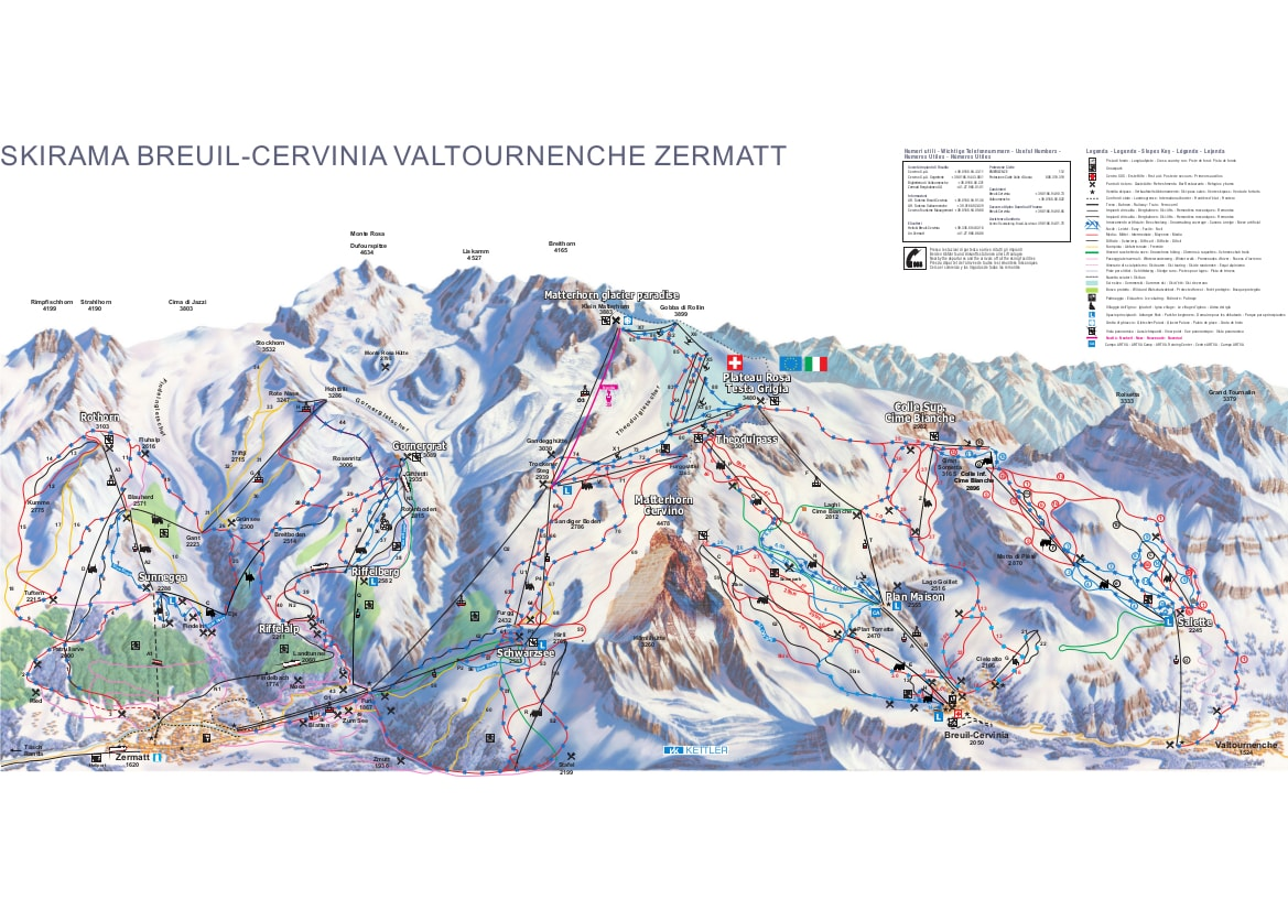 Cervinia Piste Map Cervinia Piste Map   Free downloadable piste maps