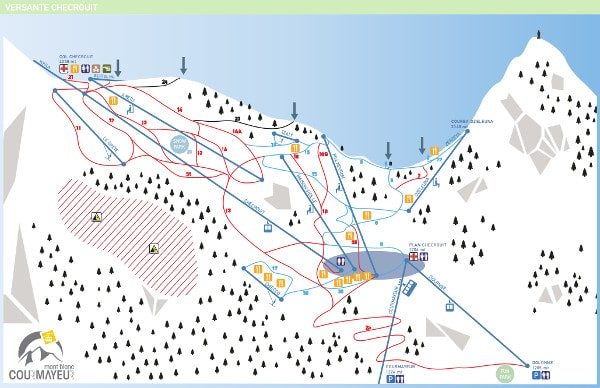 Courmayeur Checrout Ski Resort Piste Map