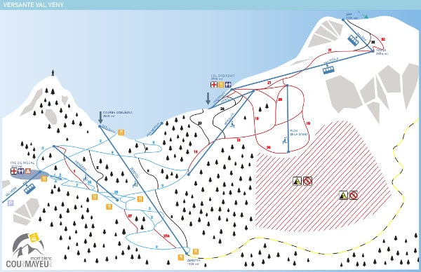 Courmayeur Val Veny Ski Resort Piste Map