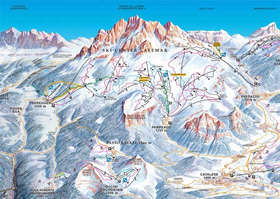 Val Di Fiemme Piste Map