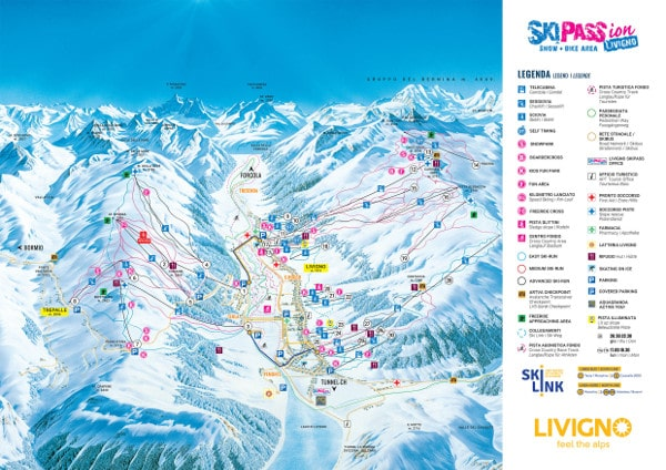 Livigno Piste Map Free downloadable piste maps