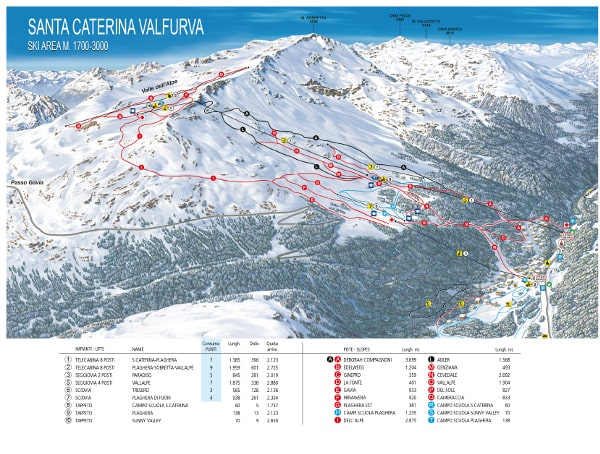 Santa Caterina Ski Resort Piste Map