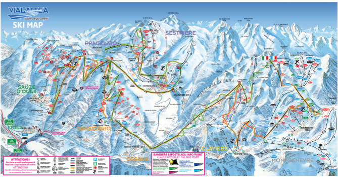Sestriere Piste Map