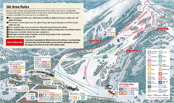 Annupuri Ski Resort Piste Map