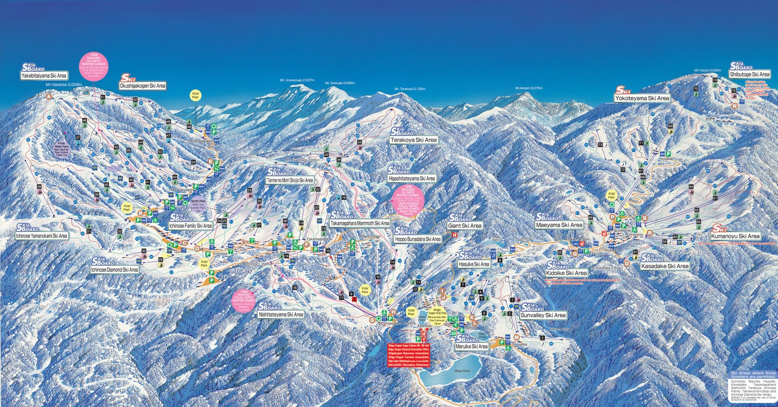 Shiga Kogen Piste Map Free downloadable piste maps