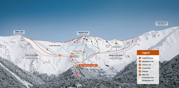 Broken River Ski Resort Piste Map