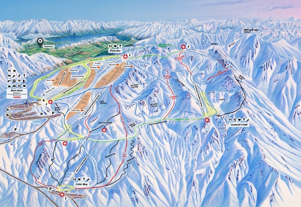 Cardrona Ski Resort Piste Map