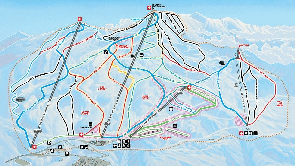 Coronet Peak Ski Resort Piste Map