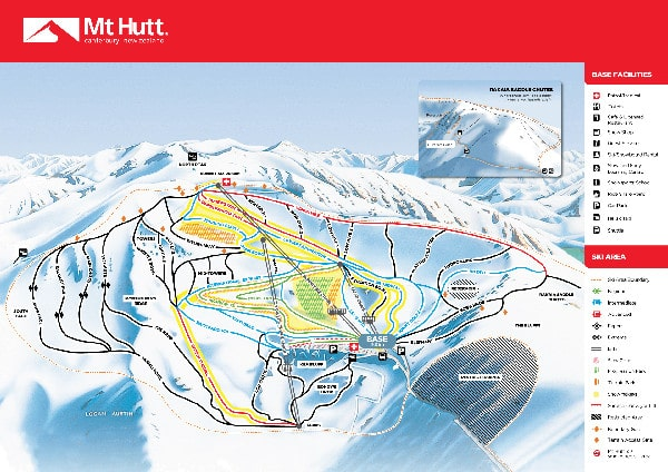 Mt Hutt Ski Resort Piste Map