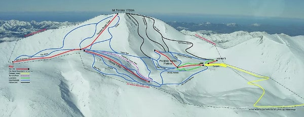 Mt Lyford Ski Resort Piste Map