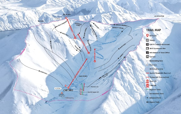 Porters Ski Resort Piste Map