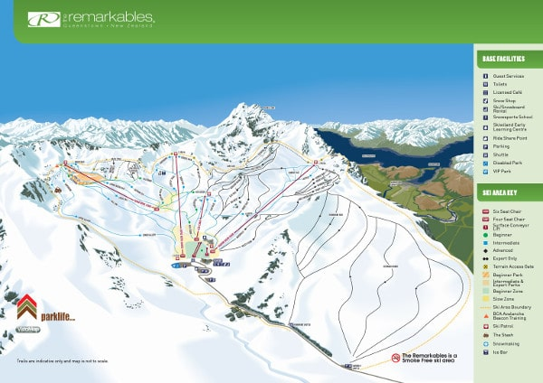 The Remarkables Ski Resort Piste Map