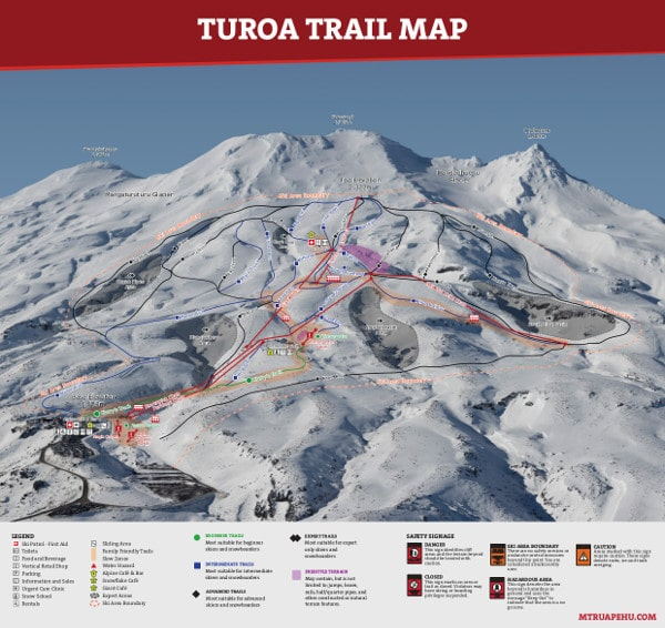 Turoa Ski Resort Piste Map