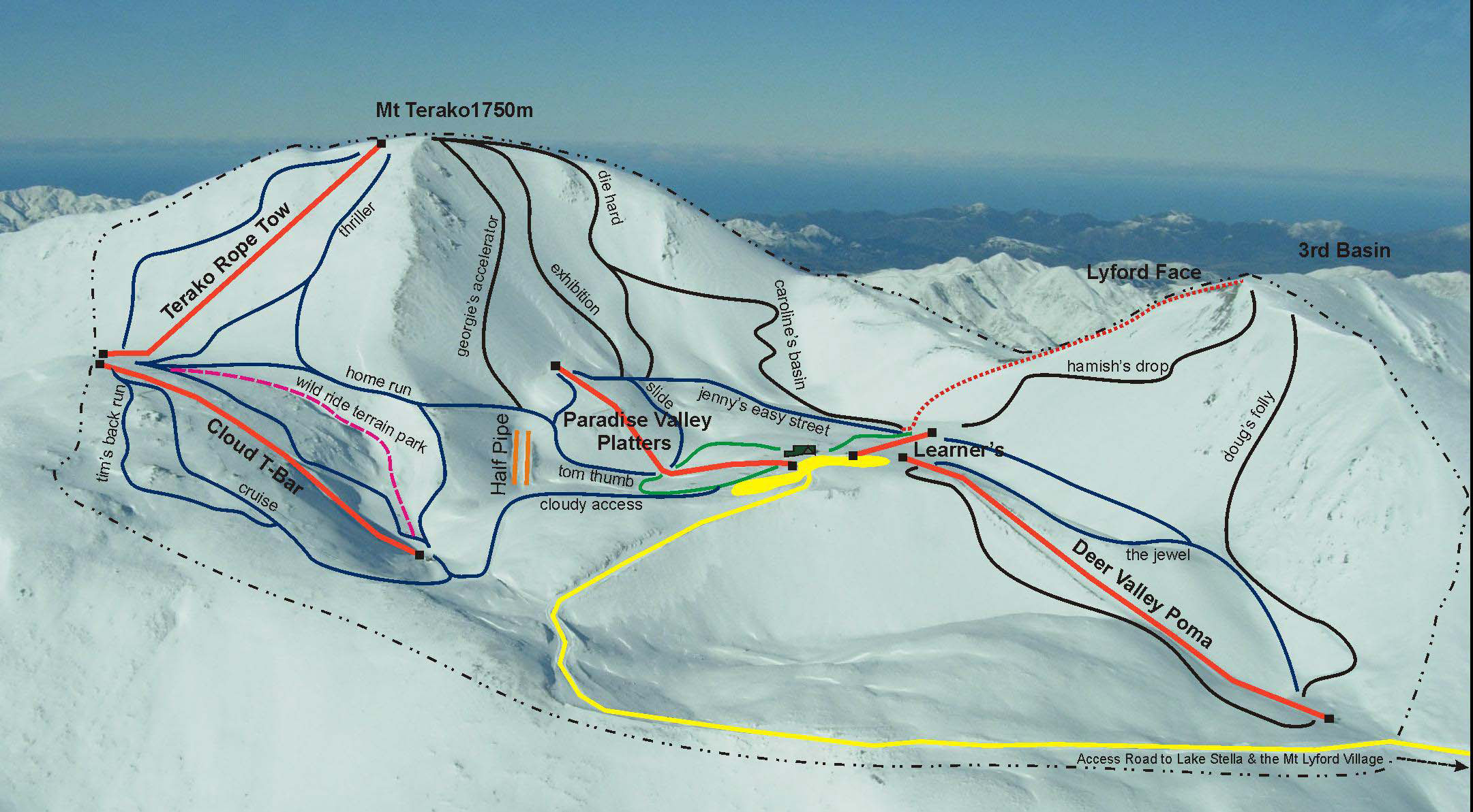 Virginia Driving Record >> Mt Lyford Piste Map – Free downloadable piste maps.