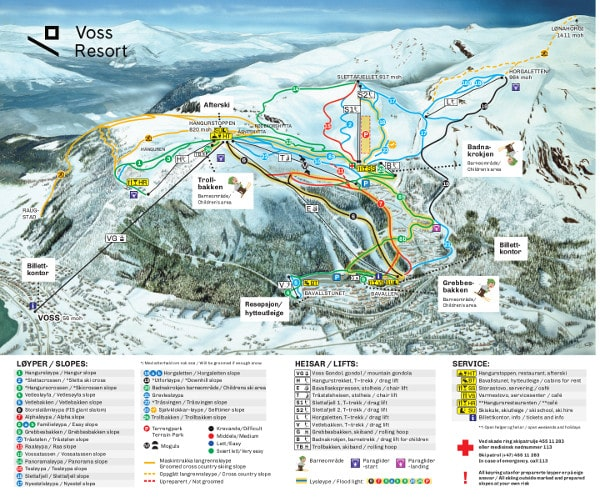 Voss Ski Resort Piste Map