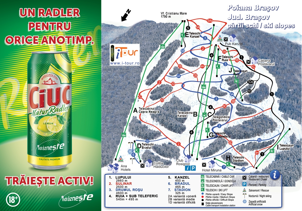 Poiana Brasov Piste Map Free Downloadable Piste Maps