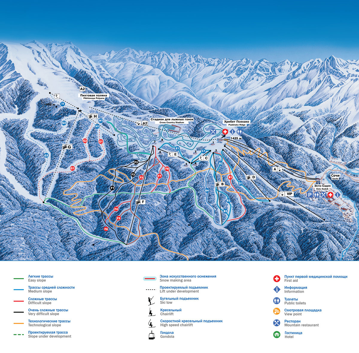 Gazprom piste map free downloadable piste maps gazprom piste map gumiabroncs Images