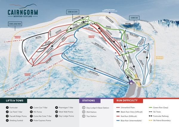 Cairngorm Piste Map Cairngorm Scotland Piste Map Free downloadable piste maps. Cairngorm Piste Map
