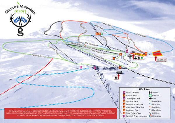 Glencoe Scotland Piste Map Free Downloadable Piste Maps