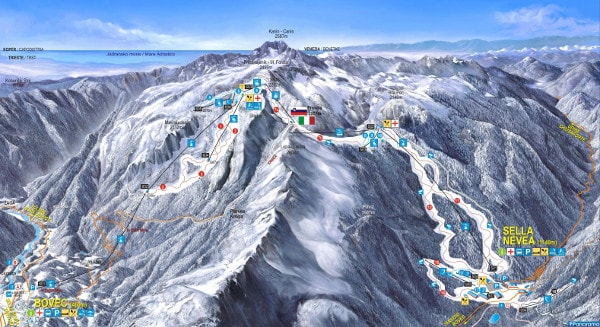 Kanin Piste Map