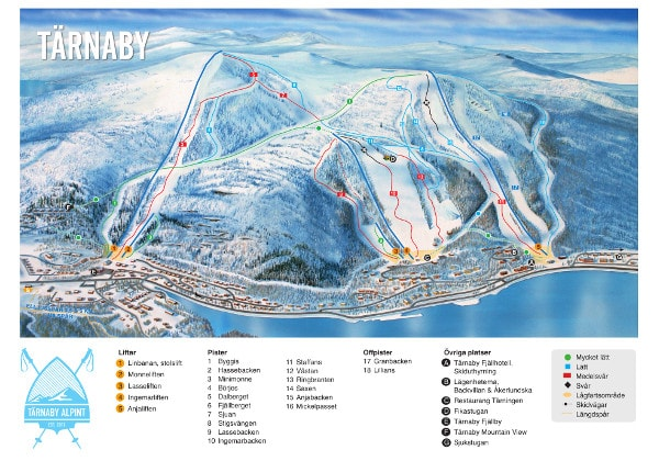 Tärnaby Piste Map