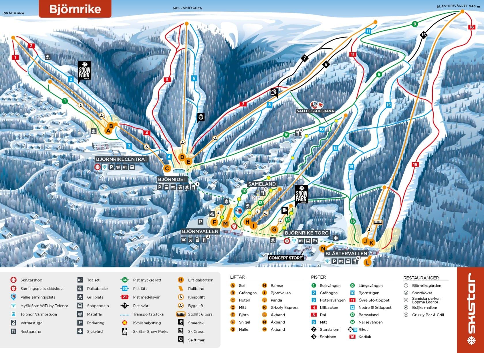 vemdalen piste map  u2013 free downloadable piste maps