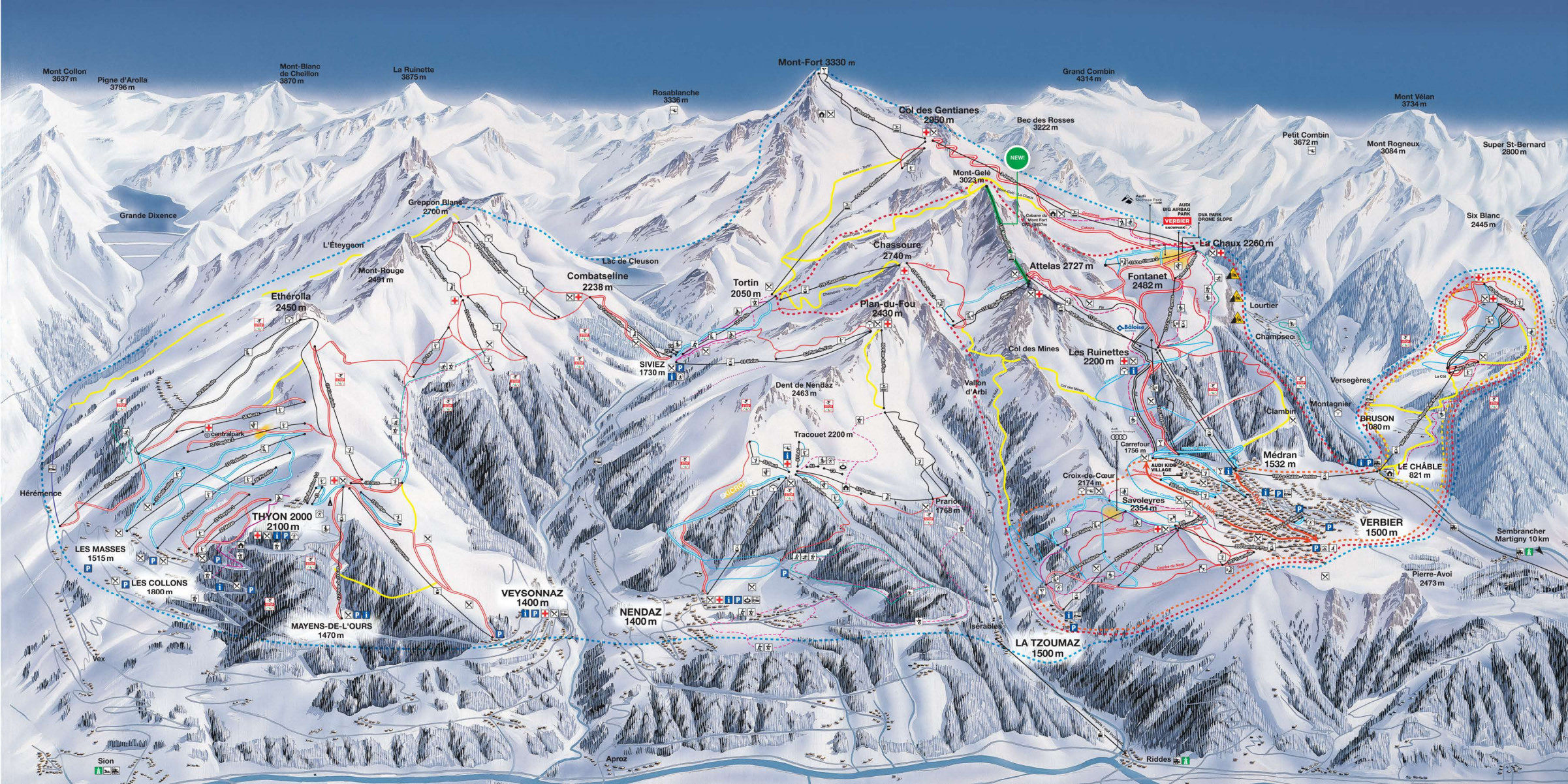 4 Vallees Piste Map Free downloadable piste maps
