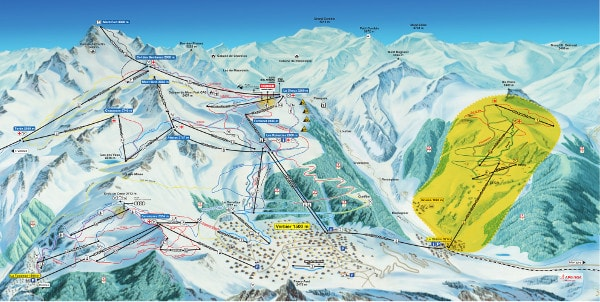 Bruson Ski Resort Piste Map