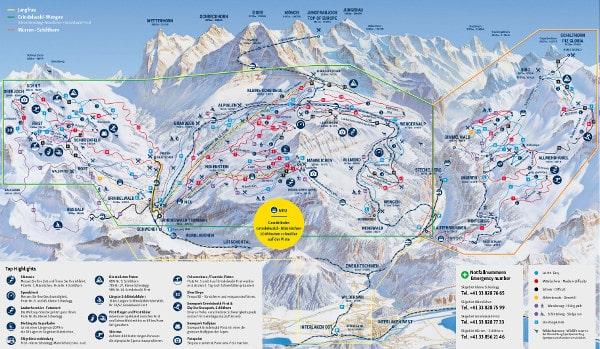 Grindelwald Piste Map Free downloadable piste maps