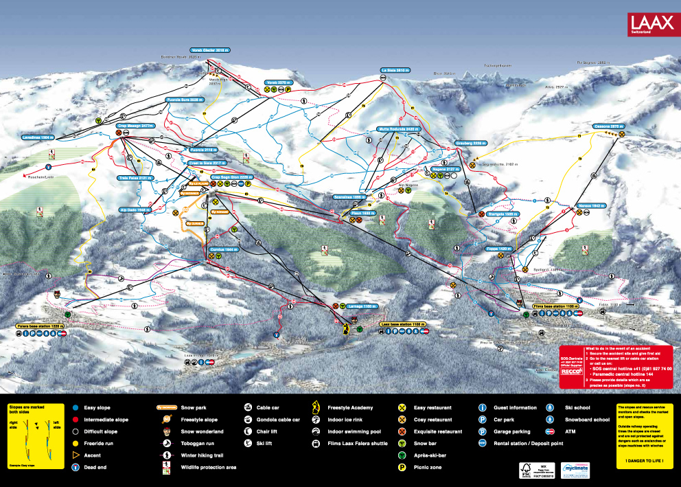 Laax Piste Map Free downloadable piste maps