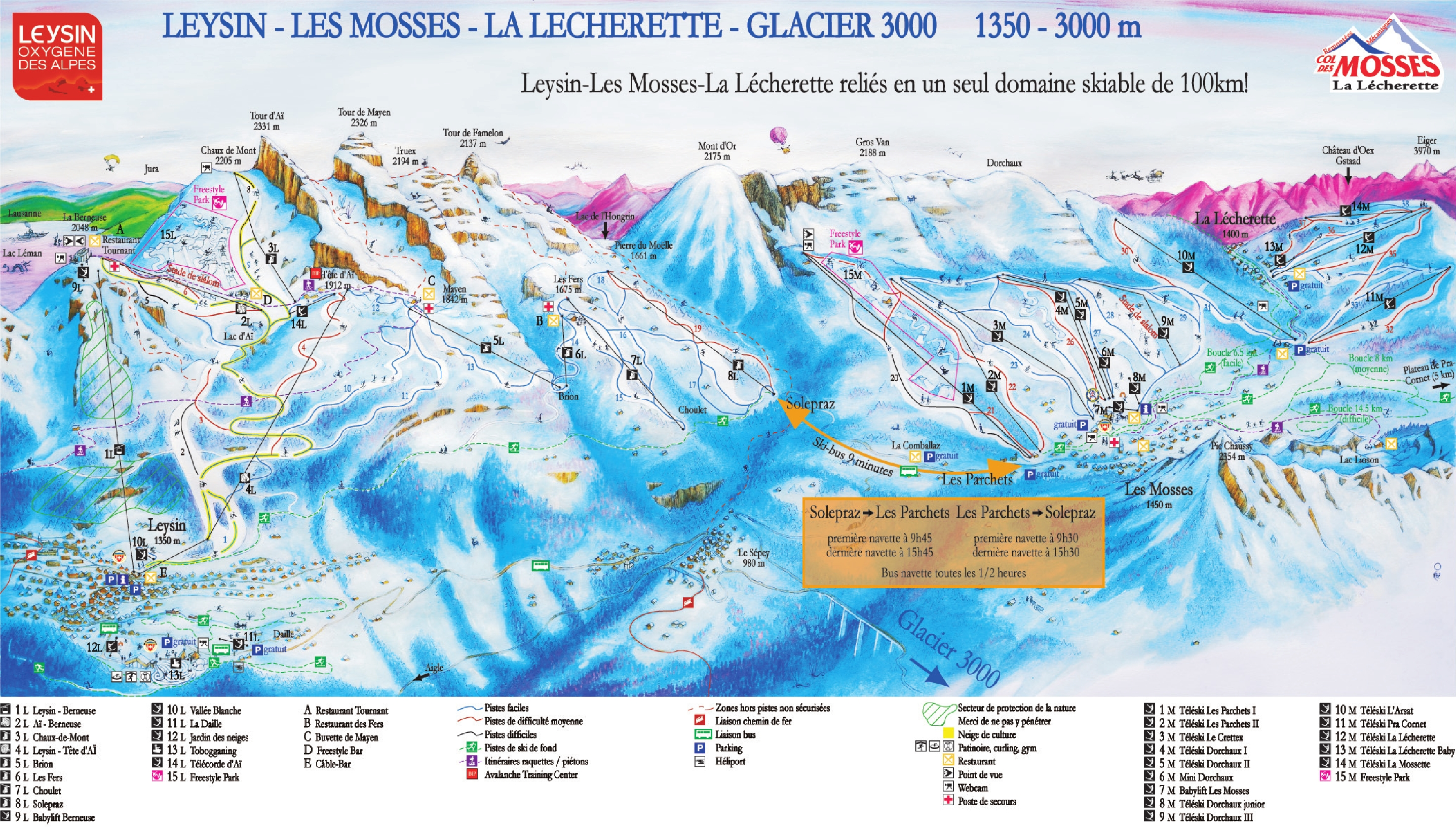 Leysin Piste Map Free downloadable piste maps