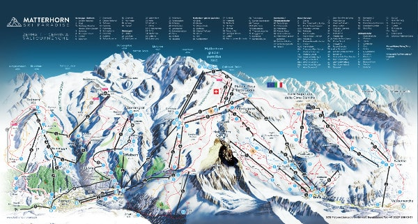 Cervinia Ski Map Cervinia Piste Map   Free downloadable piste maps Cervinia Ski Map