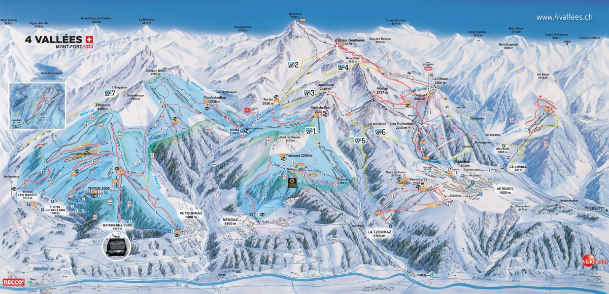 Veysonnaz piste map Free to Download