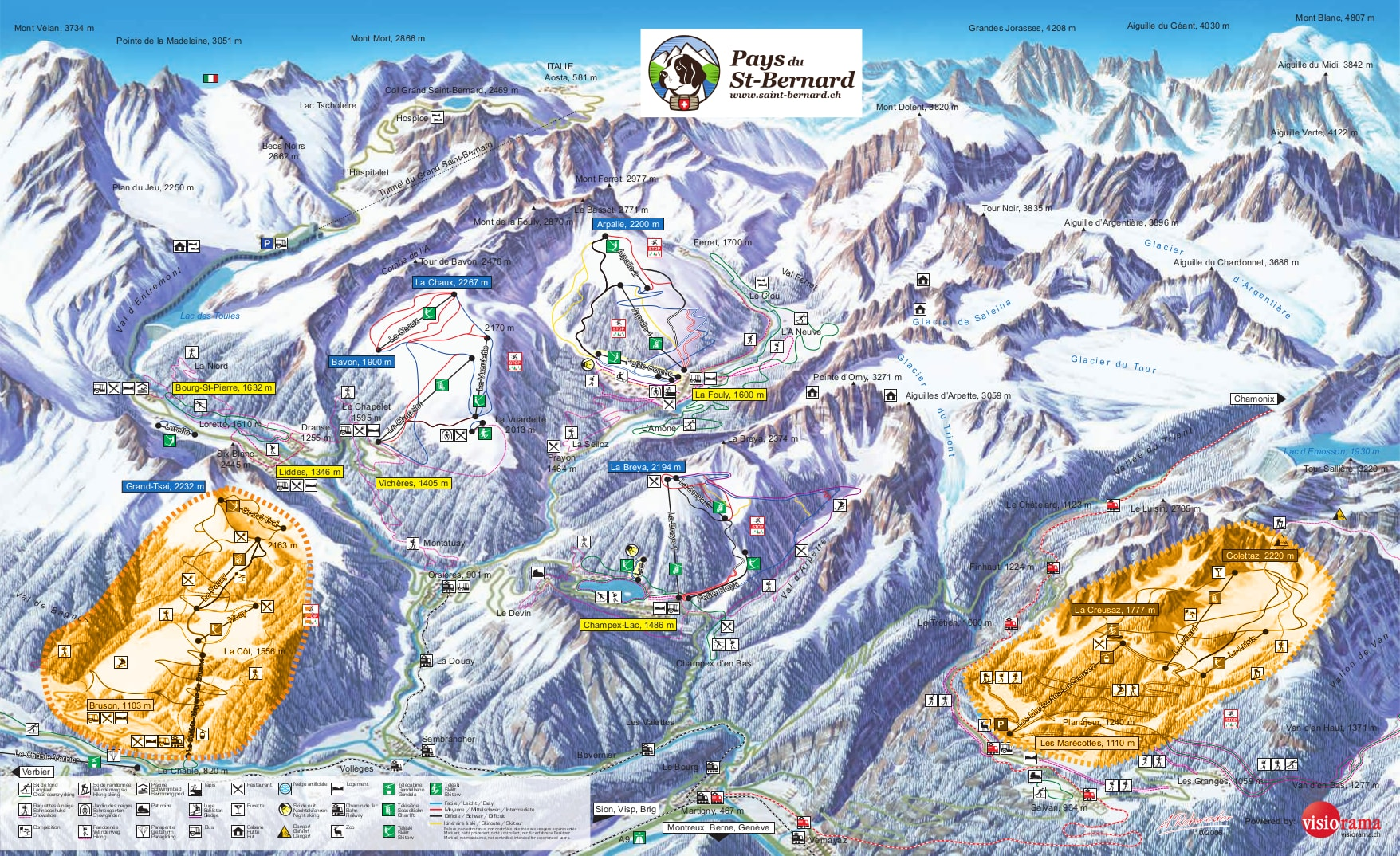Saint Bernard Piste Map Free downloadable piste maps