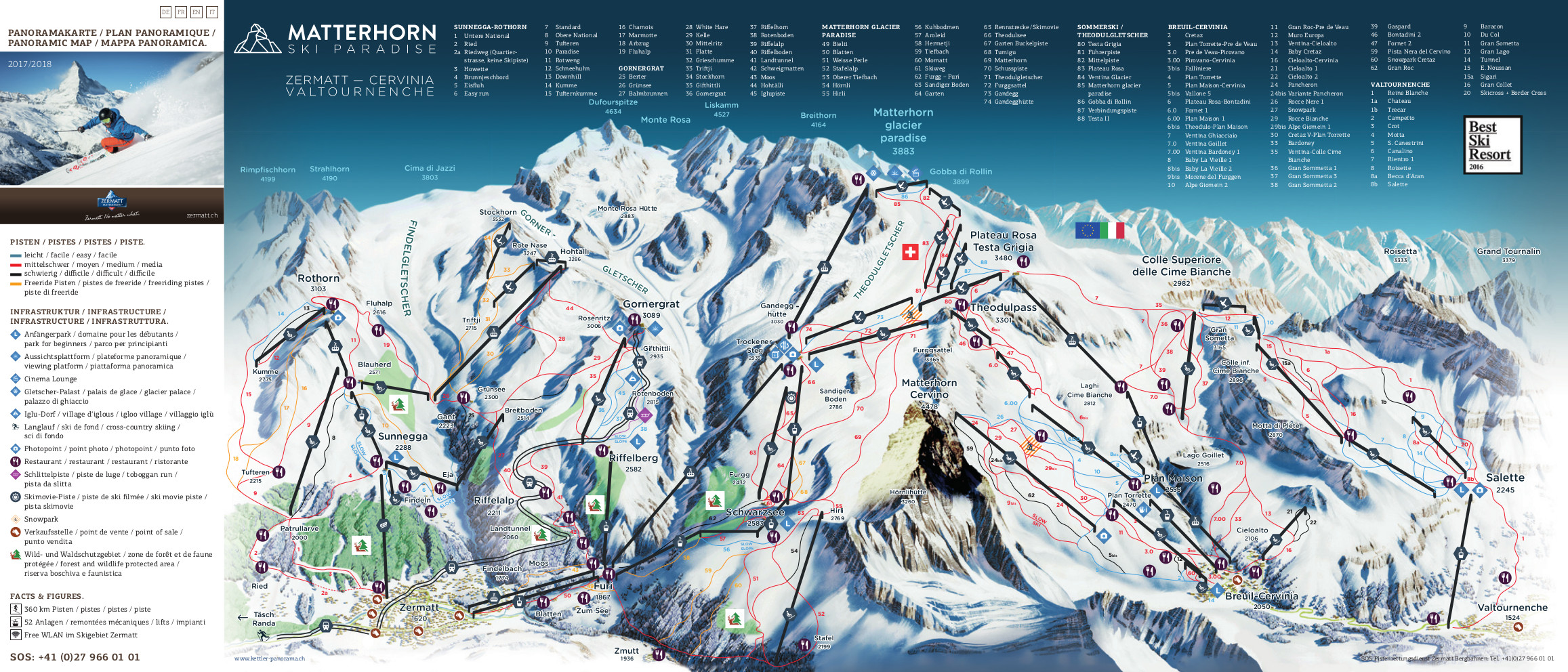 Zermatt Piste Map Free downloadable piste maps