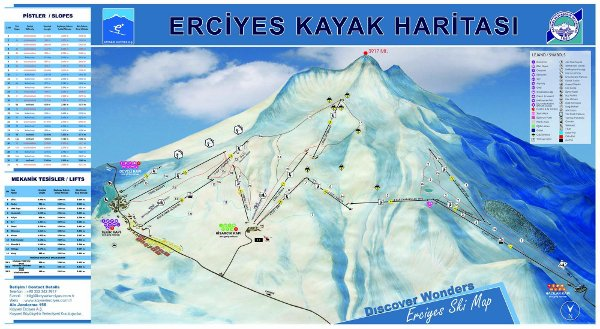 Mount Erciyes Piste Map