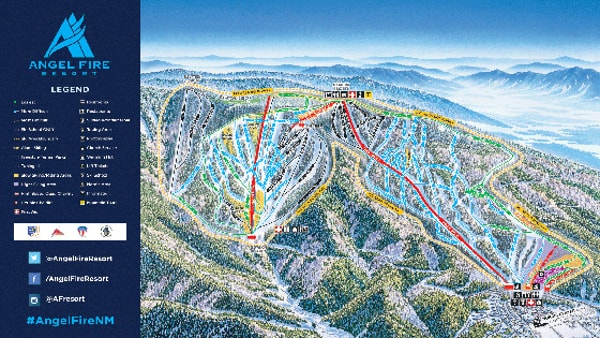 Angel Fire Piste Map