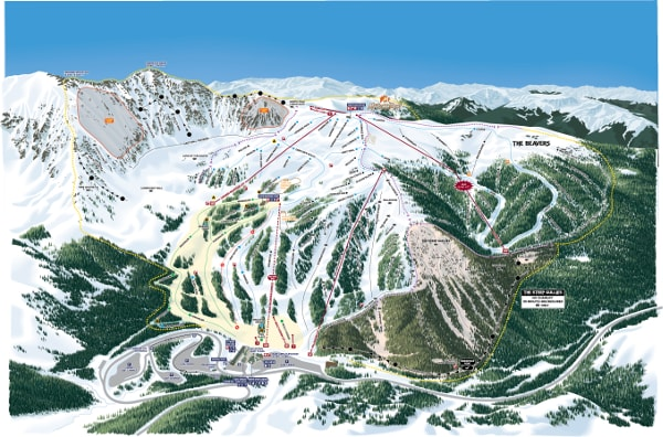 Arapahoe Basin Ski Resort Piste Map